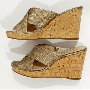 Jessica Simpson Seena Cork Wedge Platform Sandal